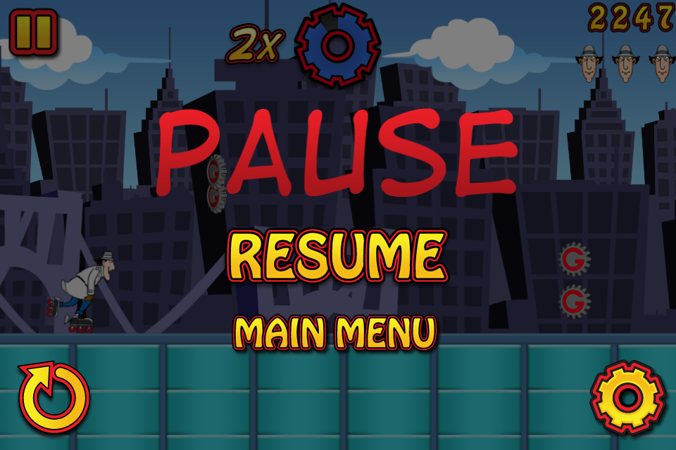 The Pause Screen is transparent