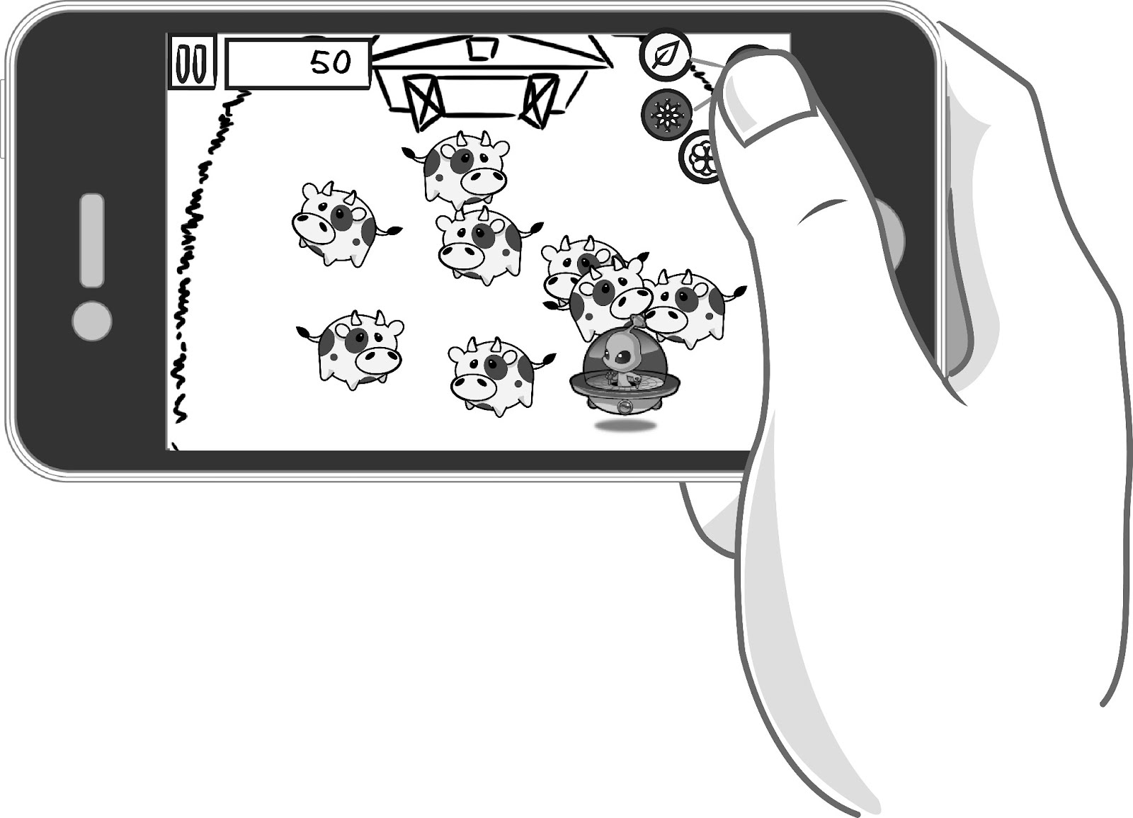 Adding a button to trigger powerups. Too many controls at once!!