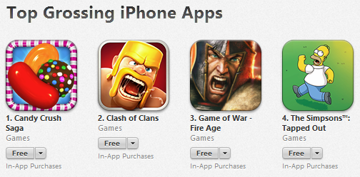 many of the top 10 grossing games have now been on the charts for years. How do you compete with that?