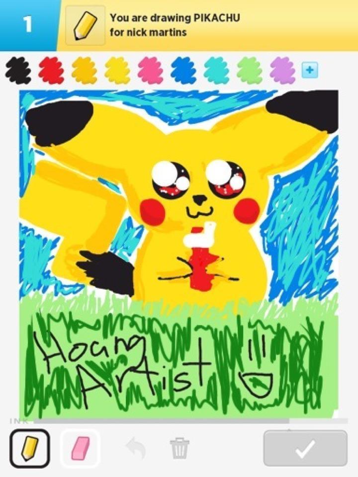 Draw Something.Chibi Pikachu by HoangArtist