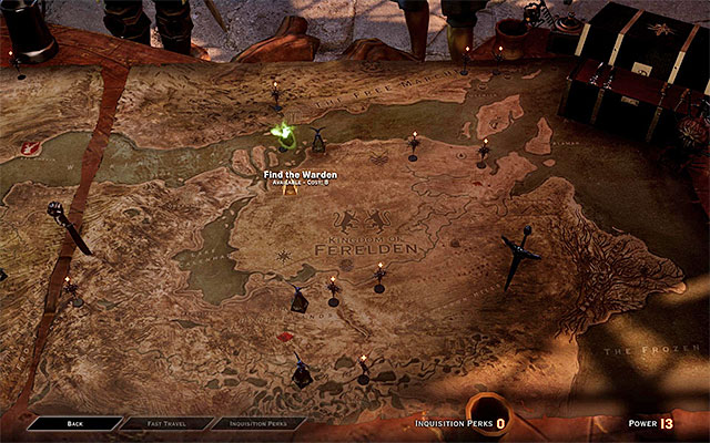 "In order for a player to start the ""Find Wardens"" story quest, the player must collect 8 power."