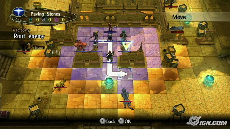 Fire Emblem Radiant Dawn. A Tactical RPG game. Control Movement of Units.