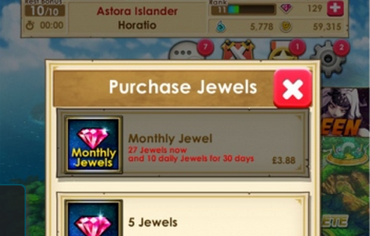 Monthly Jewel Purchase. Spend a little, get a lot. But only if you come back daily!