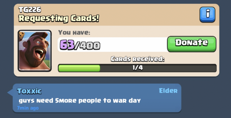 Clash Royale Clan Wars - An update to re-engage its loyal fans? - 4