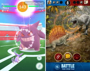 Pokemon Go's simplistic battle system vs Jurassic World Alive battle system