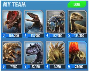 Jurassic World Alive 8 dinosaurs