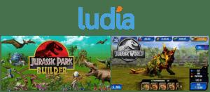 Ludia game design, Jurassic Park Builder, Jurassic world.